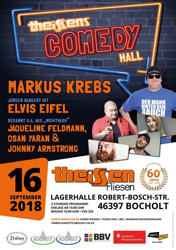 Theissens comedy hall 2018 fliesen theissen - Fliesen theissen ...