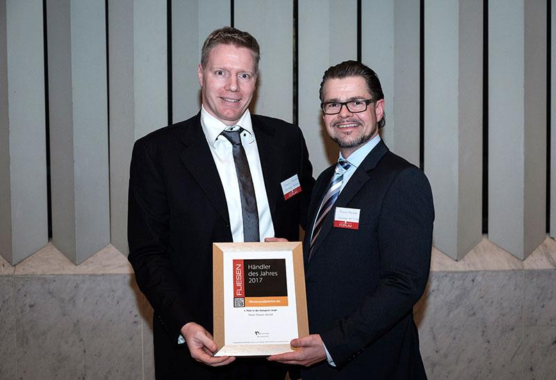 Fliesen Theissen - Händler des Jahres 2017